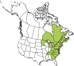 North American range map